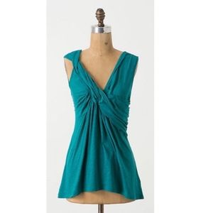 Deletta Anthropologie Twist and Flounce Tank Top